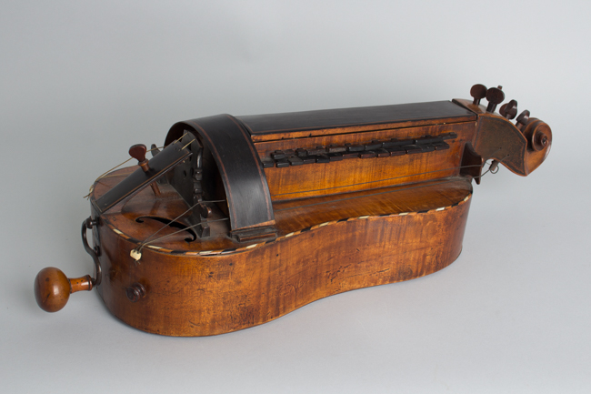 Guitar Shaped 6 String Hurdy-gurdy ,  c. late 18th Century