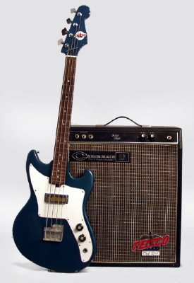 retrofret teisco eb 100 electric bass guitar and amplifier set c 1968 brooklyn ny. Black Bedroom Furniture Sets. Home Design Ideas