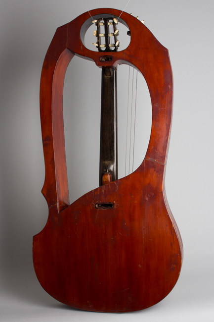 Luigi Mozzani  Lyre Harp Guitar formerly owned by Mario Maccaferri; restored by John Monteleone,  c. 1905