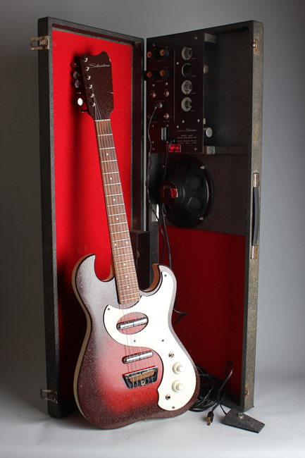 Silvertone Model 1457 Amp-In-Case Semi-Hollow Body Electric Guitar,  made by Danelectro  (1964)