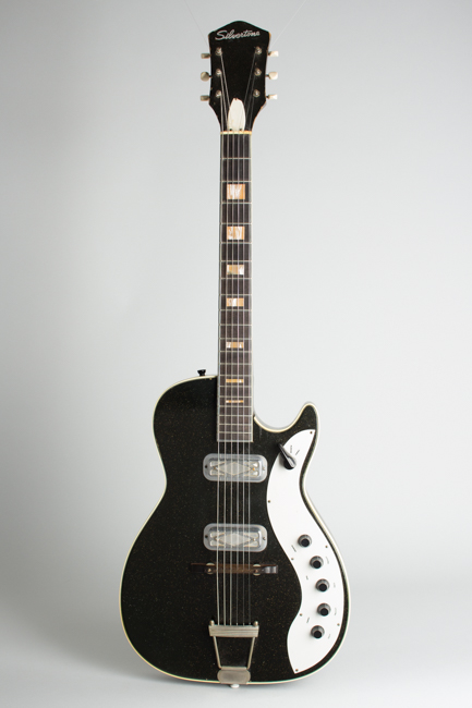 Silvertone Model 1423 Semi-Hollow Body Electric Guitar,  made by Harmony  (1962)