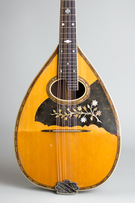 Stahl Flat Back, Bent Top Mandolin, made by Larson Brothers ,  c. 1917