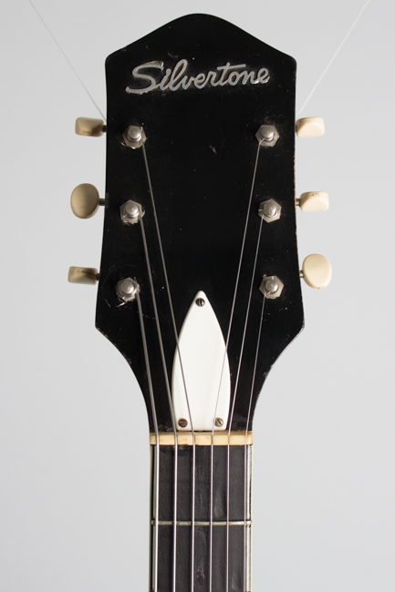 Silvertone Model 1446L Thinline Hollow Body Electric Guitar, made by Harmony  (1960