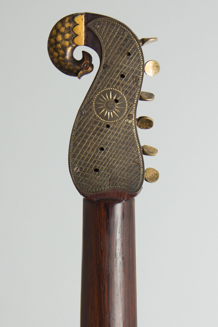 Patent Harp Guitar Guitar, most likely made by Emilius Nicolai Scherr,  c. 1825