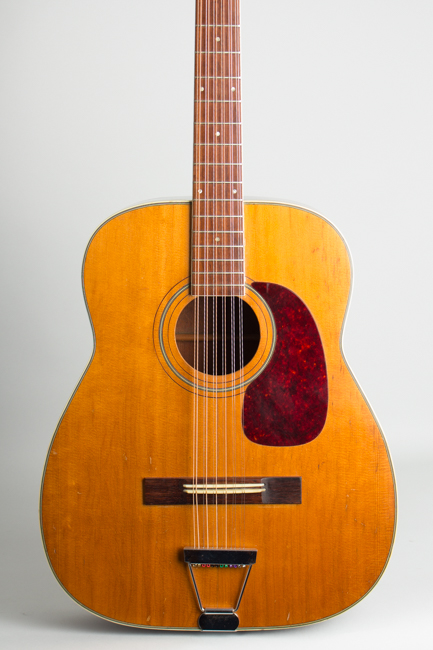 Harmony  H-1270 12 String Flat Top Acoustic Guitar ,  c. 1970