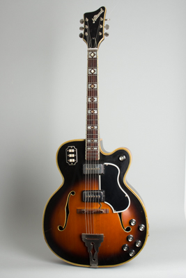National  Prototype Arch Top Hollow Body Electric Guitar ,  c. 1968