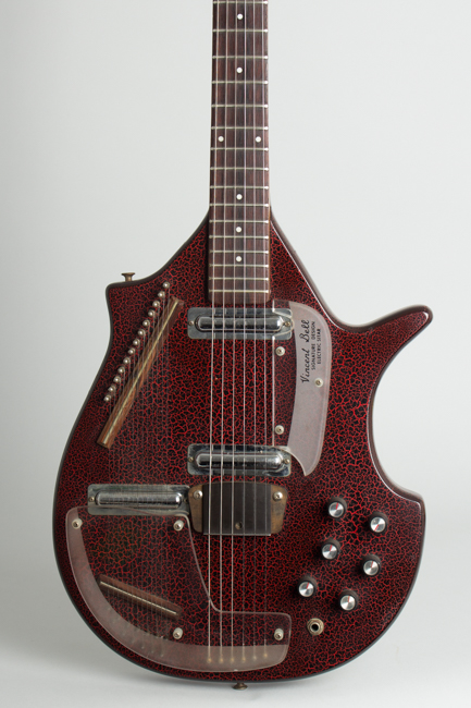 Coral Sitar Semi-Hollow Body Electric Guitar, made by Danelectro  (1968)