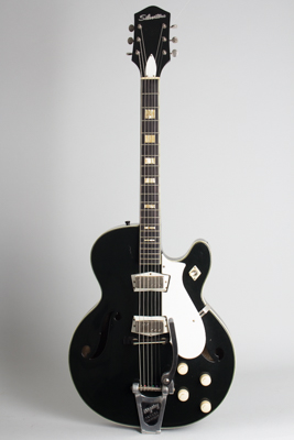 Silvertone Model 1446L Thinline Hollow Body Electric Guitar, made by Harmony  (1962)